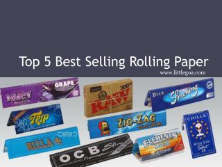 Top 5 Best Selling Rolling Paper