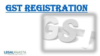 GST Registration online in India | LegalRaasta