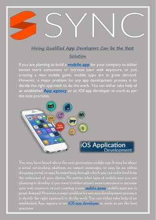 Hiring Qualified App Developers Can be the Best Solution