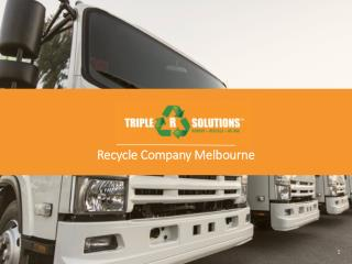 Benefits of Resource Recovery