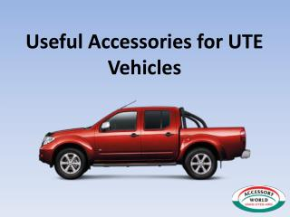 Useful Accessories for UTE Vehicles