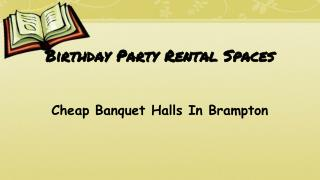 Small Party Halls In Mississauga Great Venues