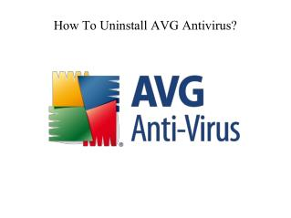 How to uninstall avg antivirus ?