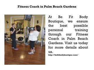 Fitness Coach in Palm Beach Gardens