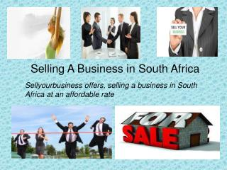 Buying and Selling in South Africa