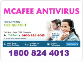 mcafee Support Phone Number 1800 824 4013