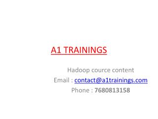 Hadoop online training cource content