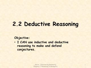 2.2 Deductive Reasoning
