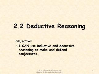 2.2 Deductive Reasoning