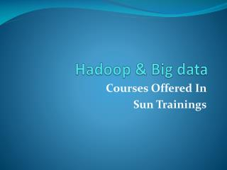Hadoop Online Training- Course Content