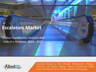 Escalators Market Growth Factors and Opportunities