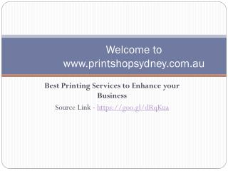 Best Printing services to enhance your business