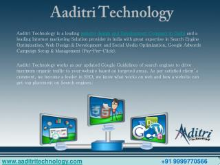 Aaditri Technology – Web Design & Development Company in Delhi