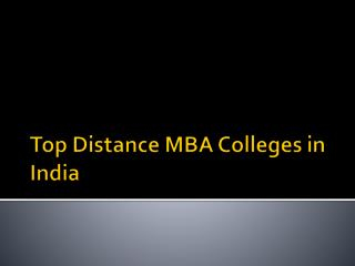 Top Distance MBA Colleges in India