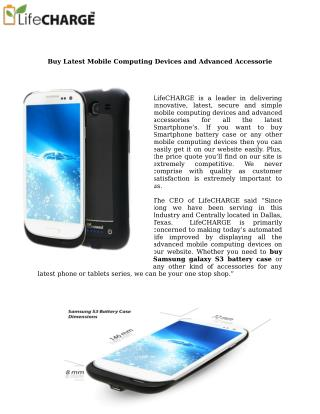 Buy Samsung Galaxy s3 Battery Case