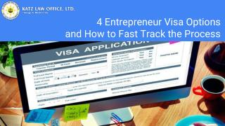 4 Entrepreneur Visa Options And How To Fast Track The Process
