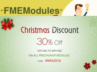 PrestaShop Modules Sales at 30% Off on Christmas