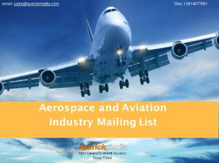 Aviation Industry Mailing List | Aerospace Industry Email Lists | Aviation Marketing Mailing Lists