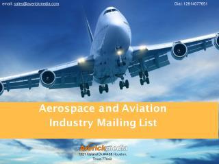 Aviation Industry Mailing List | Aerospace Industry Email Lists | Aviation Marketing Mailing Lists