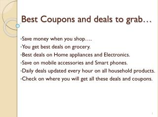 Coupons and deals to grab