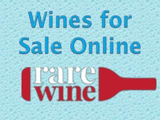 Wines for sale online
