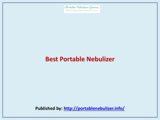 Best Portable Nebulizer