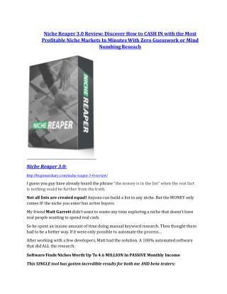 Niche Reaper V3 Review and (FREE) Niche Reaper V3 $24,700 Bonus
