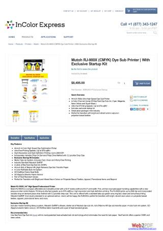 Mutoh RJ-900X (CMYK) Dye Sub Printer | With Exclusive Startup Kit