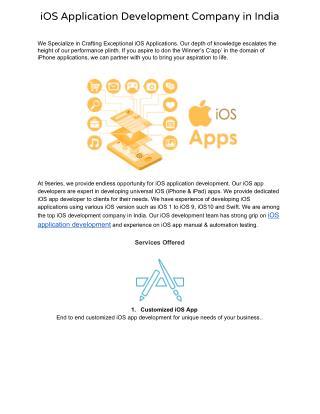 iOS Application Development Company in India