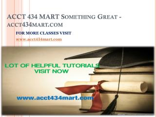 ACCT 434 MART Something Great-acct434mart.com