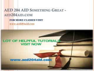 AED 204 AID Something Great-aed204aid.com