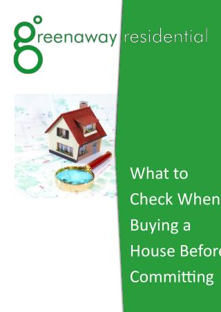 What to Check When Buying a House Before Committing