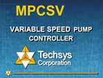 VARIABLE SPEED PUMP CONTROLLER