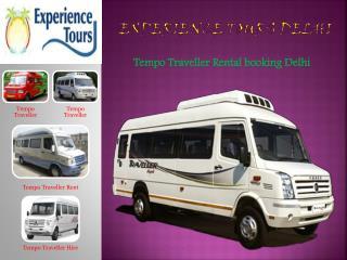 Tempo Traveller Rent in Delhi, 9 seater tempo traveller hire delhi