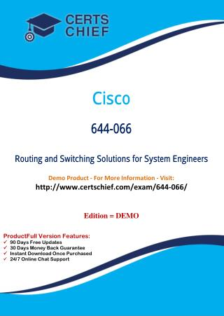 644-066 Certification Practice Test