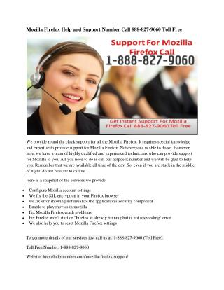 Mozilla Firefox Help and Support Number Call 888-827-9060 Toll Free