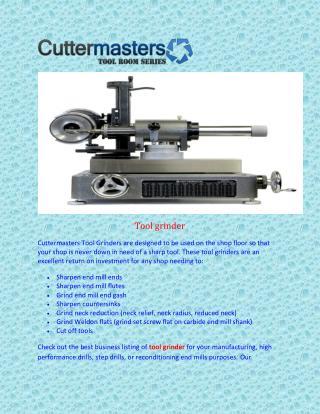 Tool grinder