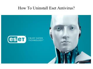 How To Uninstall Eset Antivirus ?
