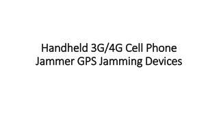 5 Bands Black GPS Jammer Cell Phone Blocker