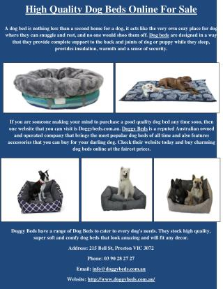 High Quality Dog Beds Online for Sale