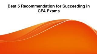 Essential 5 Commandment Ways to Succeed in the CFA Exam