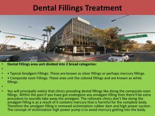 Dental Fillings Treatment