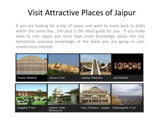 Delhi to Jaipur Tour Package