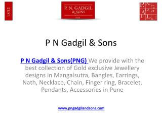 Gold Jewellery Shopping Pune | PNG | P N Gadgil and sons