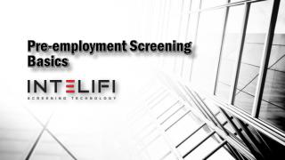 Pre-employment Screening Basics