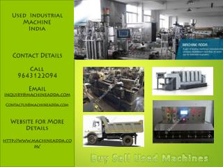 Industrial Equipments for Sale in India
