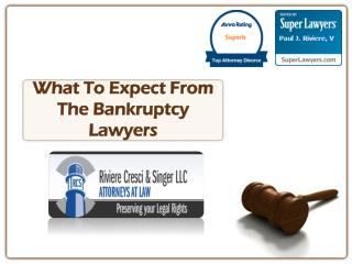 What To Expect From The Bankruptcy Lawyers