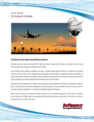 53 Airports Across India Chose Infinova Cameras