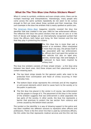 Bluelineid is offering the thin blue line police stickers across United States.