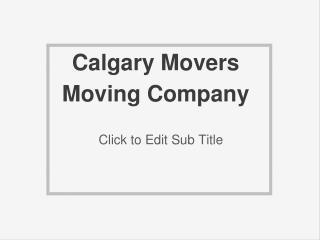 Calgary Movers Moving Company